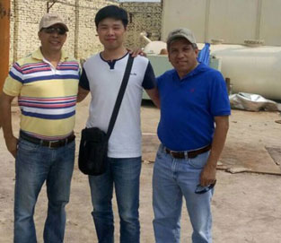 American Customers Came To Visit Waste Tyre Pyrolysis Plant