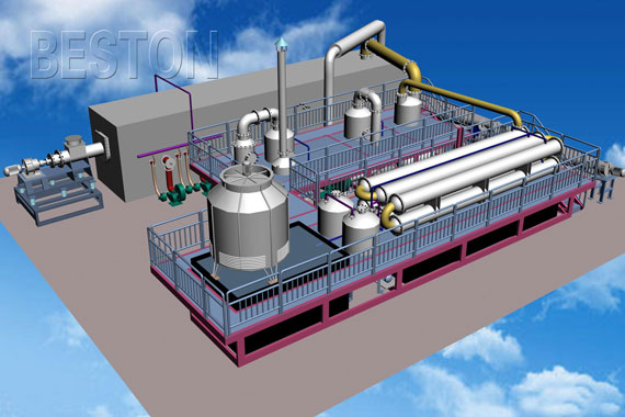 Auto Continuously Operating Pyrolysis Plant