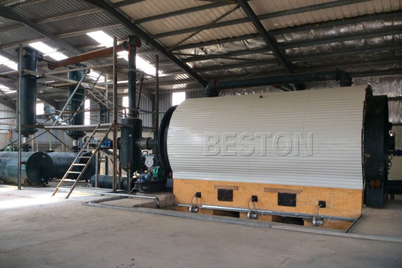 Batch Operating Pyrolysis Plant