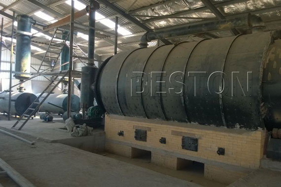 Beston Tyre Pyrolysis Plant in Jordan