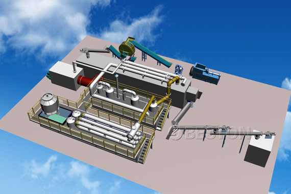continuous tyre pyrolysis plant design