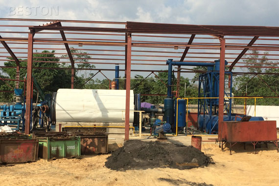 Semi-continuous Operating Pyrolysis Plant