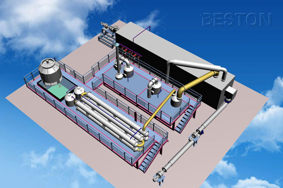 3D Layout of Pyrolysis Plant
