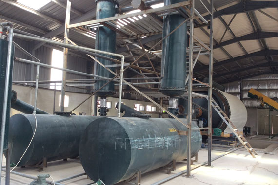 waste tyre pyrolysis plant in china