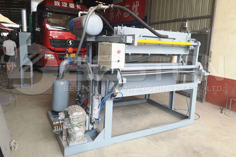 Beston Small Egg Tray Machine Shipped to Colombia